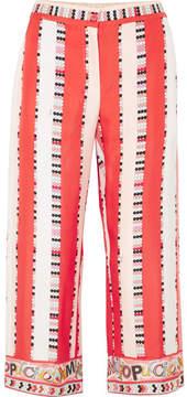 Emilio Pucci Printed Silk-twill Pants - Coral