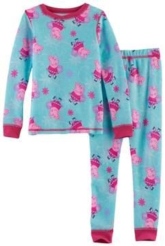 Cuddl Duds Toddler Girl Peppa Pig 2-pc.Thermal Base Layer Top & Pants Set