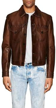 Ralph Lauren Black Label MEN'S BURNHAM STITCHED LEATHER WESTERN JACKET