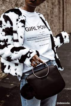 Forever 21 Cow Print Faux Fur Jacket