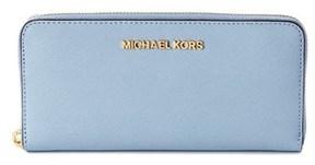 MICHAEL Michael Kors Jet Set Travel Zip Around Leather Wallet. - GREY - STYLE