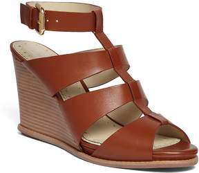 Brooks Brothers Calf Ankle Strap Wedge