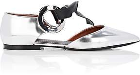 Proenza Schouler Women's Double-Grommet Leather D'Orsay Flats