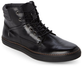 English Laundry Black Hopewood Leather Sneakers