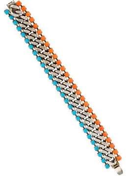 Dannijo Crystal & Link Bracelet