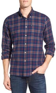 Barbour Men's Seth Tailored Fit Plaid Sport Shirt