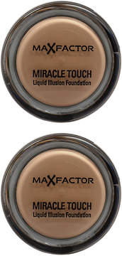 Max Factor Creamy Ivory Miracle Touch Liquid Illusion Foundation - Set of Two