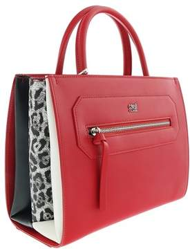Roberto Cavalli Small Handbag Leopride 002 Red Satchel Bag