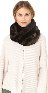 Jocelyn Knitted Fur Infinity Scarf