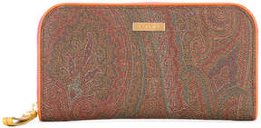 Etro paisley print zipped wallet