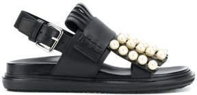 Marni pearl studded Fussbett sandals