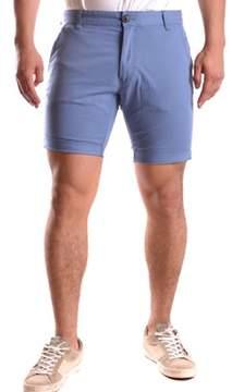 Selected Men's Light Blue Cotton Shorts.
