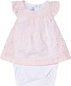 Absorba Pink Broderie Anglaise Dress