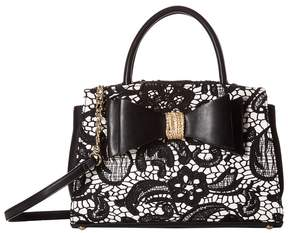 Betsey Johnson Lady Lace Satchel Satchel Handbags