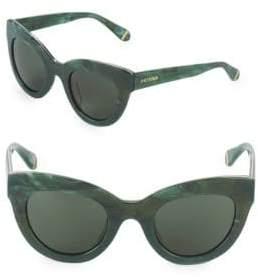 Zac Posen Jacqueline 49MM Logo Butterfly Sunglasses