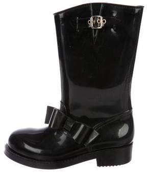RED Valentino Bow Accented Rain Boots