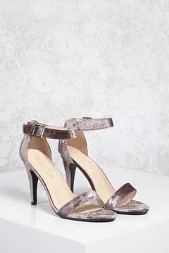 Forever 21 Crushed Velvet Heels