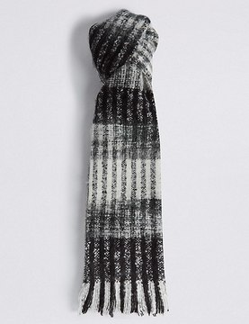 Marks and Spencer Brush Striped Scarf