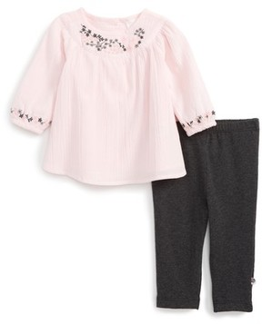 Offspring Infant Girl's Embroidered Tunic & Leggings Set