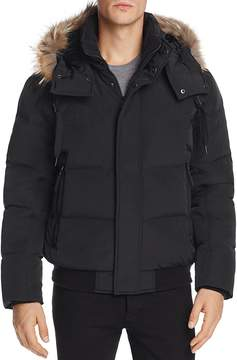 Andrew Marc Cedar Fur-Trimmed Hooded Bomber Jacket