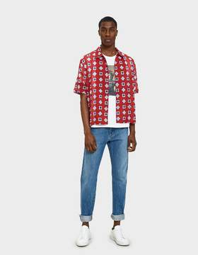 Maison Margiela Printed Muslin Shirt in Red