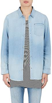 Robert Geller Men's Faded Denim Work Shirt