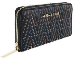 Versace EE3VRBPY2 Black/Multicolor Continental Wallet
