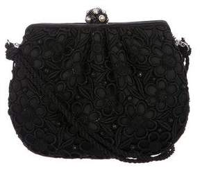 Judith Leiber Satin Lace Crossbody Bag