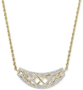 Bloomingdale's Diamond Micro Pavé Necklace in 14K Yellow Gold, .50 ct. t.w.