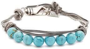 Emanuele Bicocchi Bead-embellished sterling-silver bracelet