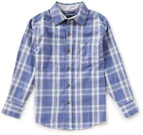 Nautica Big Boys 8-20 Plaid Button-Down Long-Sleeve Shirt