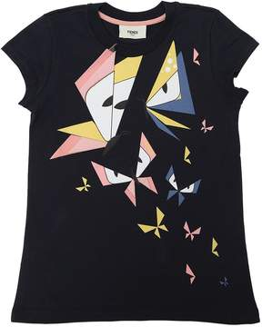 Fendi Butterflies Print Cotton Jersey T-Shirt