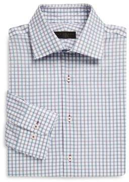 Ike Behar Regular-Fit Tattersall Cotton Dress Shirt