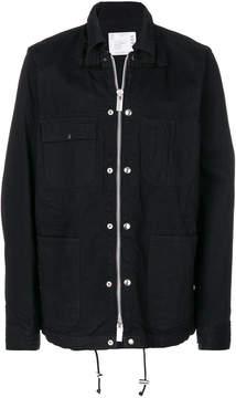 Sacai embroidery detail drawstring jacket