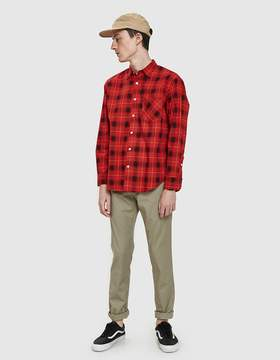 Noon Goons Sect Shirt in Tartan Red