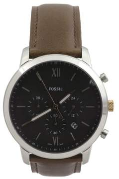 Fossil Men's FS5408 Silver Stainless Steel Chronograph Analog Watch