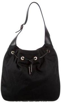 Gucci Nylon Drawstring Bag - BLACK - STYLE