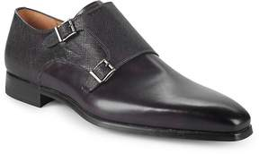 Saks Fifth Avenue by Magnanni Men's Double-Monk Strap Leather Loafers