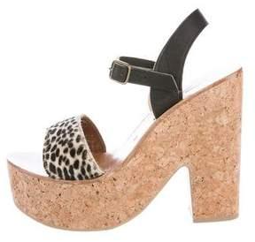 K Jacques St Tropez Ponyhair Platform Sandals