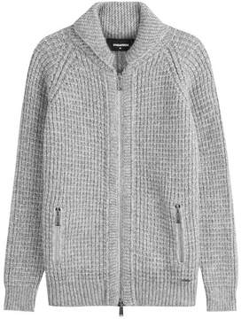 DSQUARED2 Knitted Cardigan with Alpaca and Virgin Wool