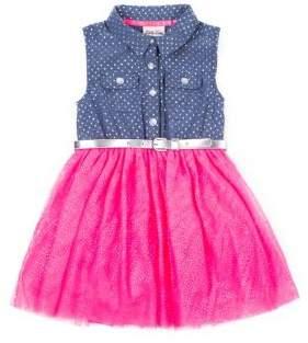 Little Lass Little Girl's Denim and Tulle Dress