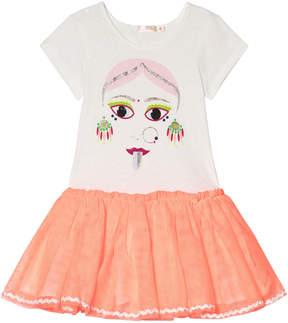 Billieblush Ivory Face Print Tutu Dress