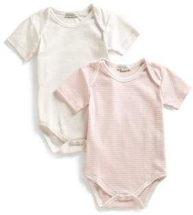 Kissy Kissy Infant's Stripe & Solid Bodysuit Two-Pack