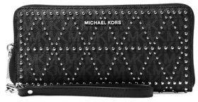 MICHAEL Michael Kors Money Pieces Travel Continental Wristlet - BLACK - STYLE