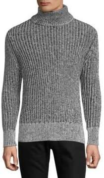 J. Lindeberg Turtleneck Ribbed Cotton Sweater