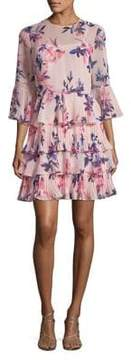 Eliza J Ruffled Bell-Sleeve Dress