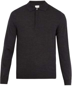 Paul Smith Long-sleeved fine-knit wool polo shirt
