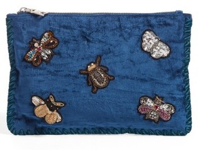 Steve Madden Embellished Clutch - Blue