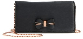 Ted Baker Women's Melisia Bow Leather Mantinee Wallet On A Chain - Black