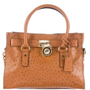 MICHAEL Michael Kors Embossed Large Hamilton Satchel - BROWN - STYLE